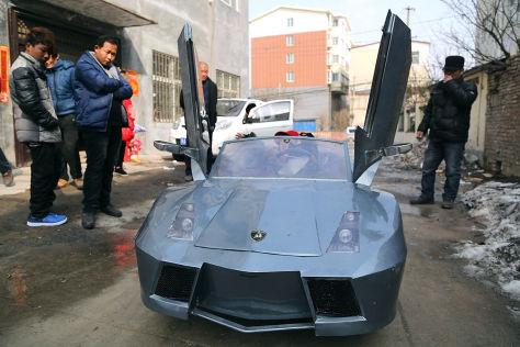 Chinese baut Mini-Lamborghini für Enkel