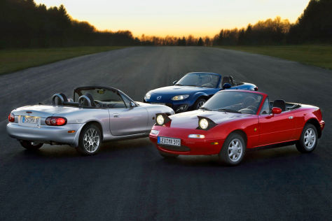 Mazda MX-5 drei Generationen
