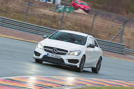 Mercedes CLA 45 AMG weiß Frontansicht