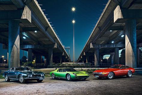 "Ferrari 365 GTB/4 ""Daytona""  Lamborghini Miura P400 S Iso Grifo GL 350"