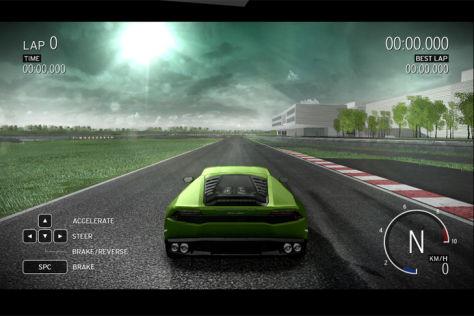 Lamborghini Huracán Fahrsimulator
