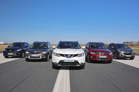 Fünf kompakte SUVs im Vergleich