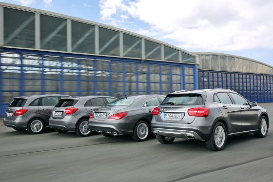 Vier Mercedes im Vergleich