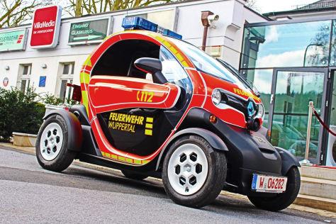 Renault Twizy: Elektro-Flitzer als Feuerwehrauto