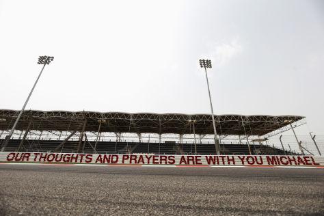 Schumacher-Banner in Bahrain