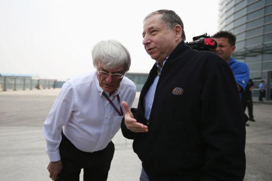 Bernie Ecclestone & Jean Todt