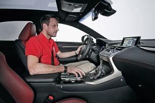 Lexus NX 300h: Sitzprobe