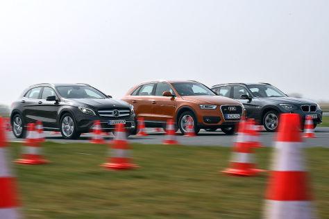 Mercedes GLA, Audi Q3, BMW X1