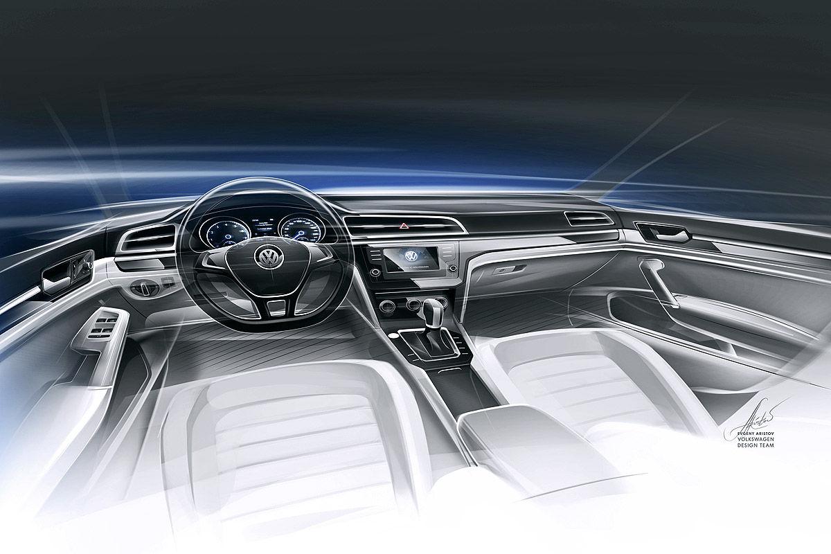 Скетч салона Volkswagen Midsize Coupe