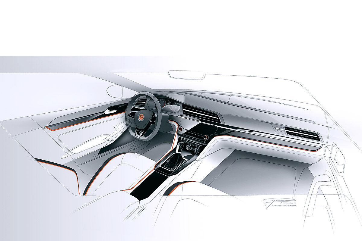 Дизайн салона Volkswagen Midsize Coupe