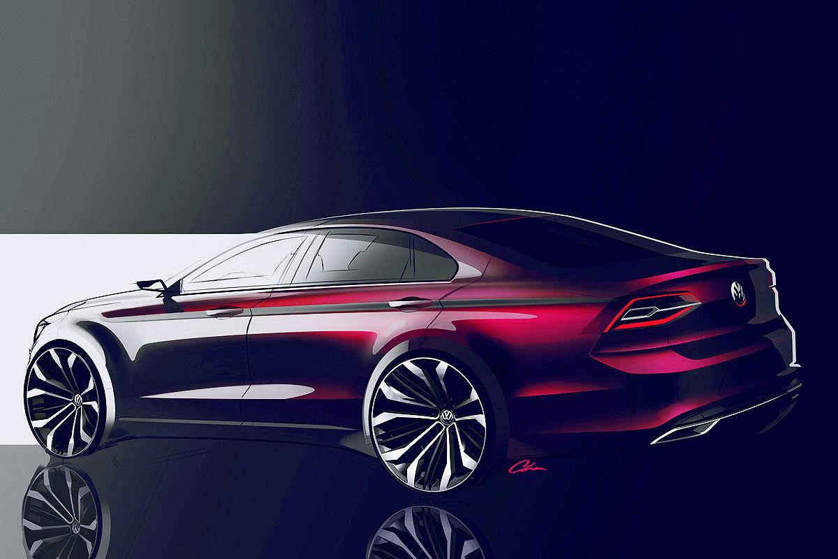 Дизайн Volkswagen Midsize Coupe 2014 года