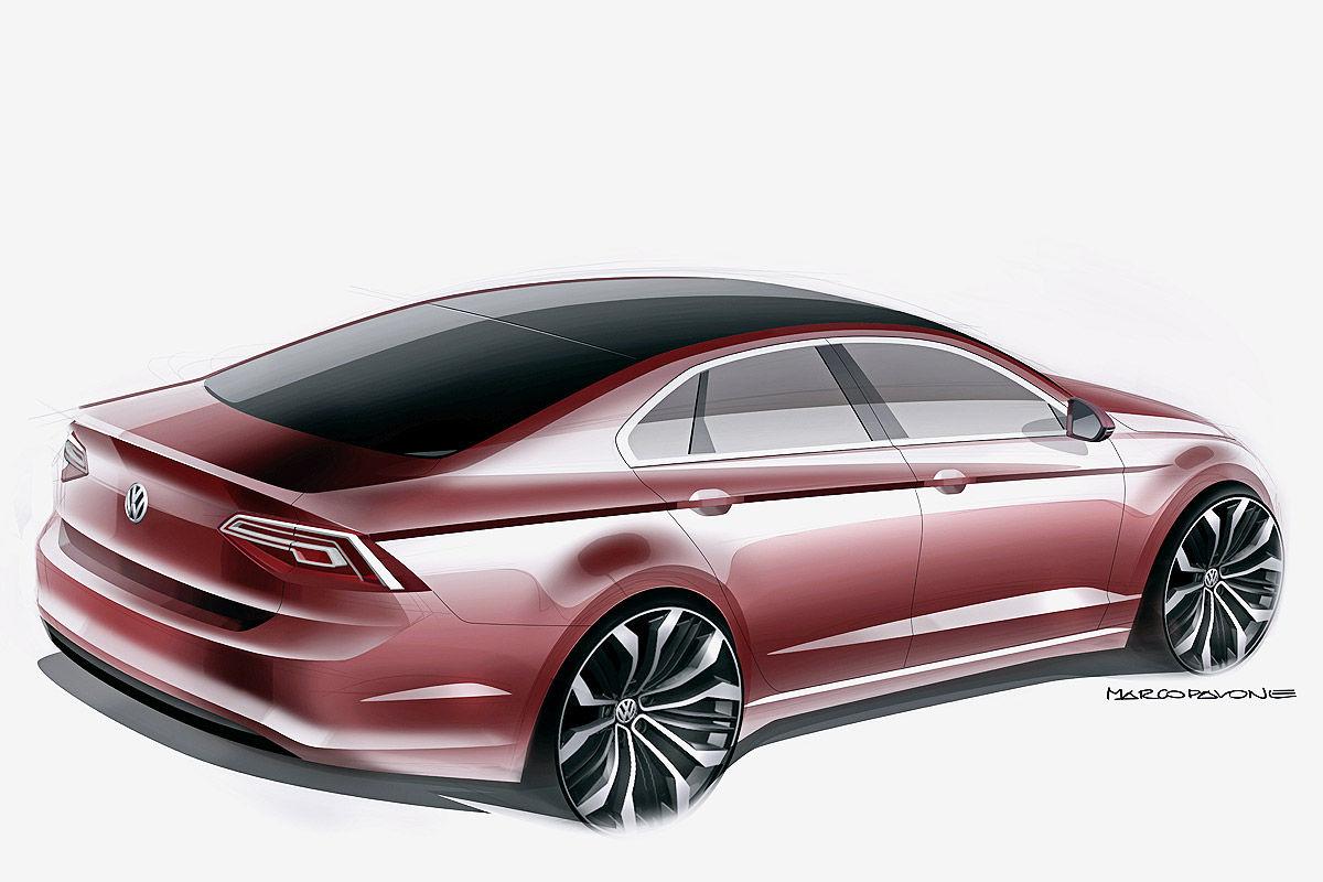 Дизайн кузова Volkswagen Midsize Coupe