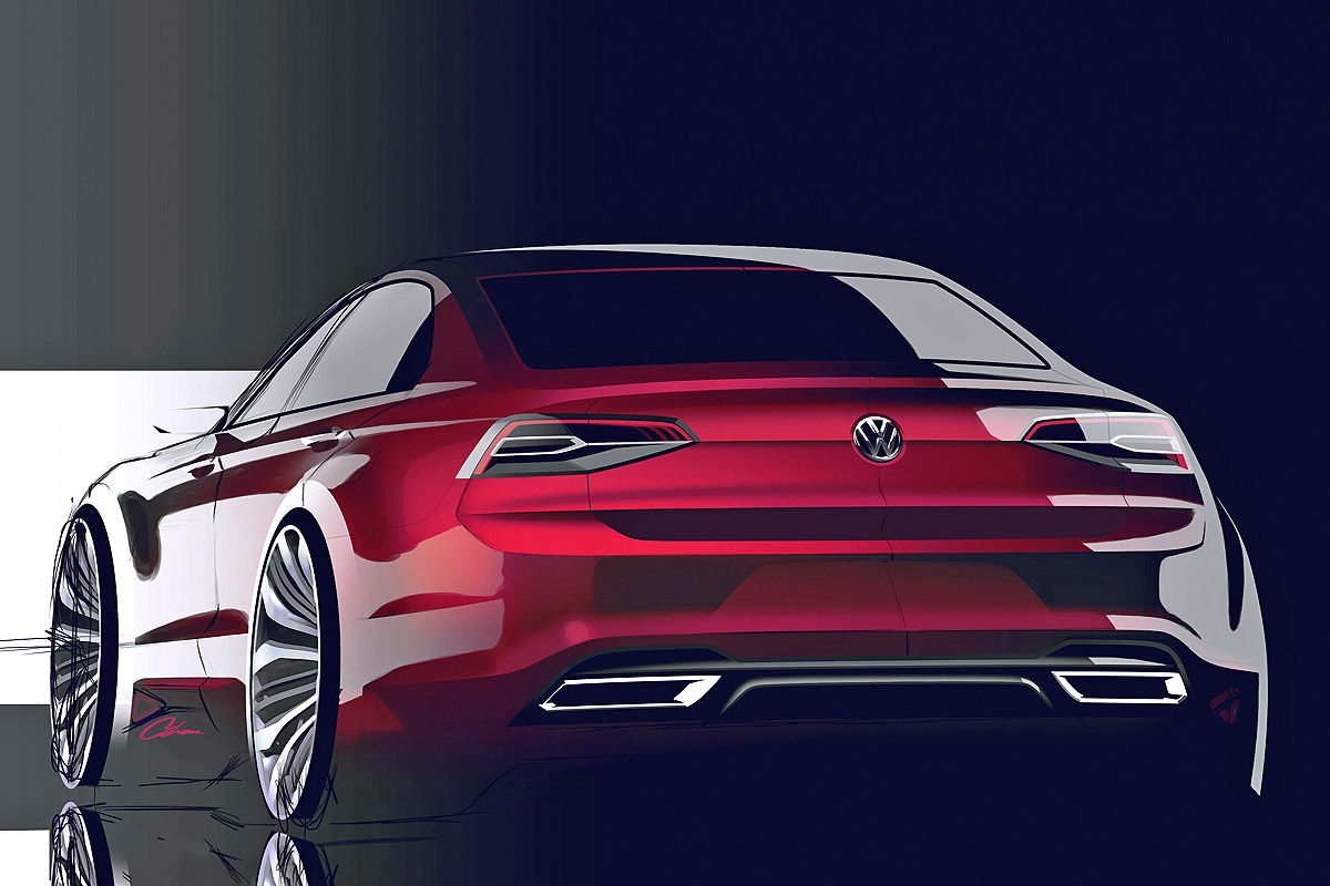 Дизайн концепта VW Midsize Coupe 2014 года