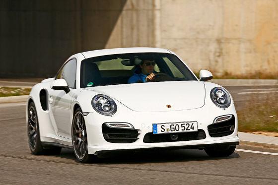 Porsche 911 Turbo weiß Frontansicht