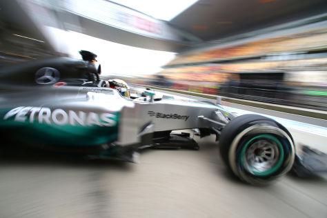 Nico Rosberg war bei den Longruns etwas schneller unterwegs als Lewis Hamilton