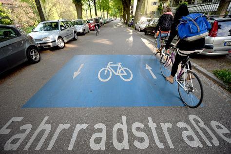 Fahrradstraße in Freiburg