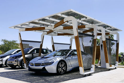 bmw solar carport f r i3 und i8. Black Bedroom Furniture Sets. Home Design Ideas