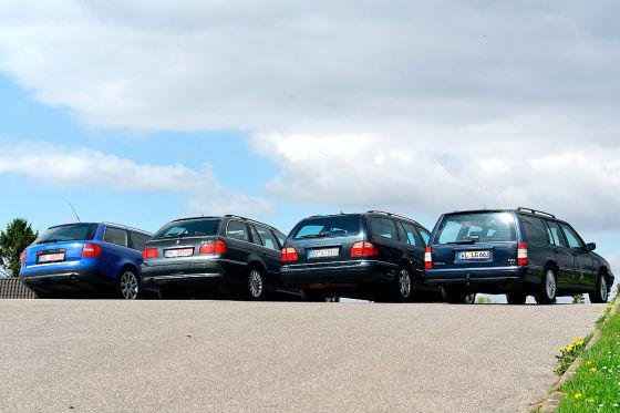Volvo 960 3.0i 24V Kombi, Mercedes E 430 T, BMW 540i Touring, Audi A6 4.2 Avant0i Touring, Audi A6 4.2 Avant