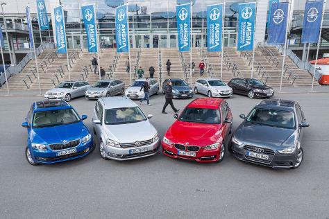 Audi A4 Avant, BMW 3er Touring, Ford Mondeo Turnier, Mazda6 Kombi, Mercedes C-Klasse T-Modell, Opel Insignia Sports Tourer, Skoda Octavia Combi, Toyota Avensis Combi , VW Passat Variant