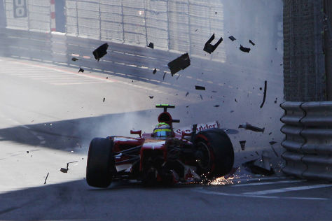 Massa-Crash in Monaco