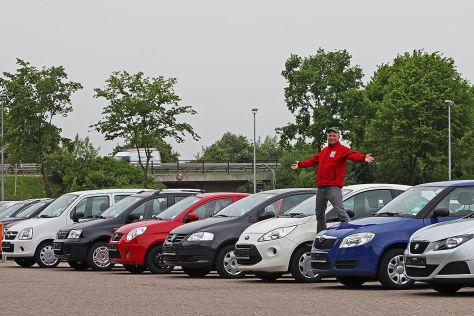 Opel Agila 1.0, Fiat Panda 1.2 8V Nat. Power, Kia Picanto 1.1 Vision, VW Fox 1.4, Ford Ka 1.2, Skoda Fabia 1.2, Seat Ibiza 1.2 SC