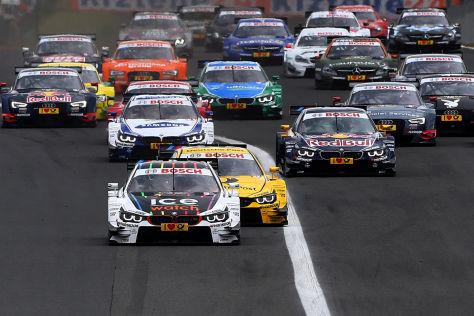 BMW-Fahrer Marco Wittmann hat auch das DTM-Rennen in Budapest gewonnen