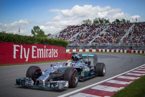 Lewis Hamilton hatte am Nachmittag in Montreal die Nase vorn