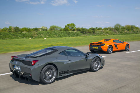 Ferrari 458 Speciale/McLaren 650 S Spider: Vergleich