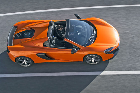 McLaren 650 S Spider Draufsicht