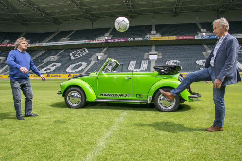 "VW Käfer Cabrio Sondermodell ""World Cup '74"""