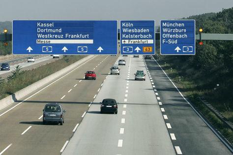 Leitsystem auf der Autobahn