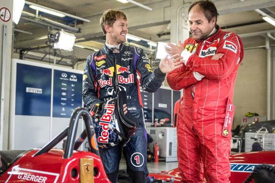 Sebastian Vettel & Gerhrd Berger