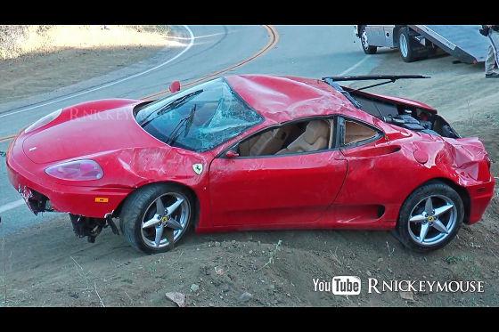 Crash am Mulholland Highway: Ferrari 360 Modena