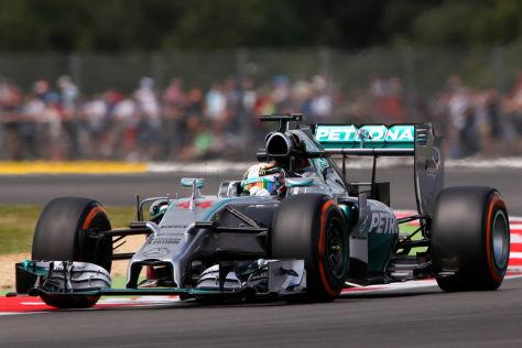 Lewis Hamilton scheint in Silverstone der schnellere Mercedes-Fahrer zu sein