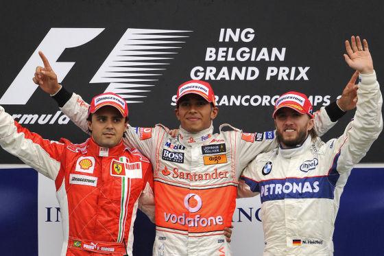 Massa, Hamilton & Heidfeld