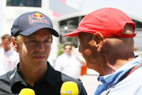 Sebastian Vettel hat es gestern laut Niki Lauda ein bisschen übertrieben