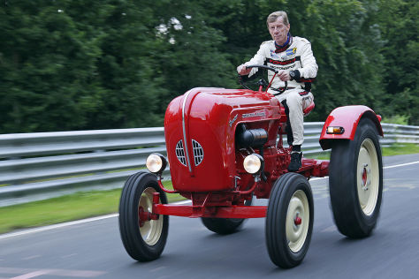Walter Röhrl rides a Porsche Junior