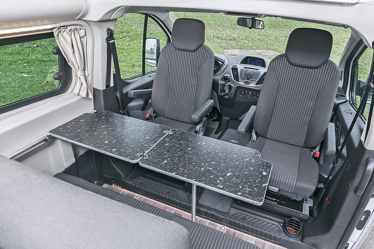 ford transit custom nugget im test bilder. Black Bedroom Furniture Sets. Home Design Ideas