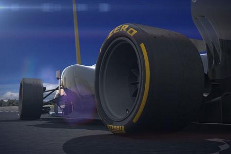 Diese Computergrafik zeigt den ersten Eindruck der 18-Zoll-Reifen