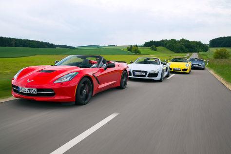 Aston Martin/Audi/Chevrolet/Porsche: Vergleich