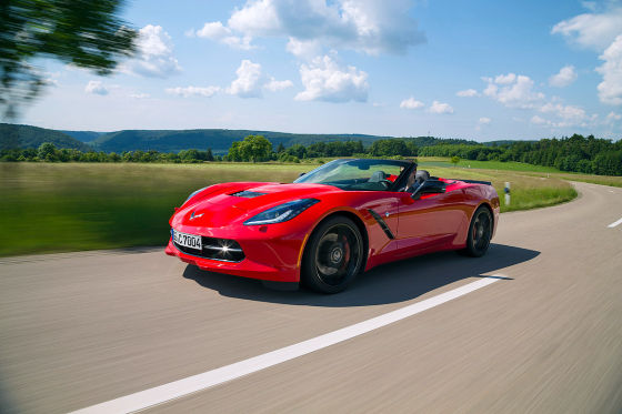 Chevrolet Corvette Stingray Convertible rot Frontansicht