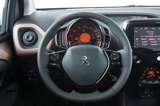 Peugeot 108 active e vti 68 2014 fahrbericht for Interieur peugeot 108
