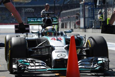Lewis Hamilton drehte am Nachmittag die schnellste Runde