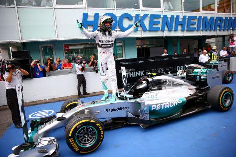 Nico Rosberg hatte den Großen Preis von Deutschland von Anfang an im Griff