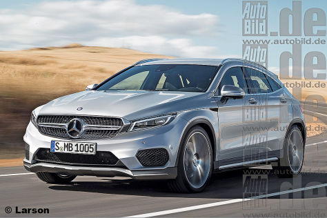 Mercedes GLA Coupé Illustration