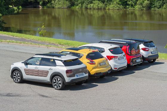 Citroën C4 Cactus, Hyundai ix20 Crossline, Kia Soul, Nissan Juke, Reanult Captur