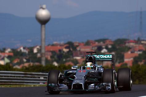 Lewis Hamilton war am Freitag auf dem Hungaroring zweimal der Schnellste