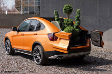 BMW SUV-Pickup in bestechendem Orange