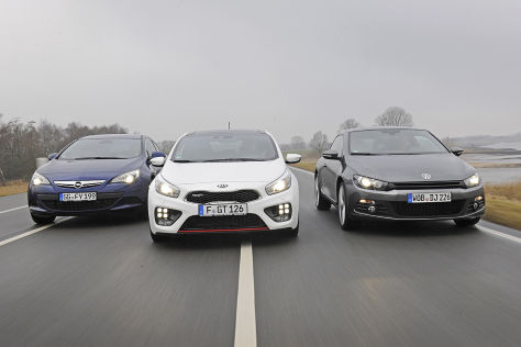 Kia Pro Cee'd/Opel Astra/VW Scirocco: Test