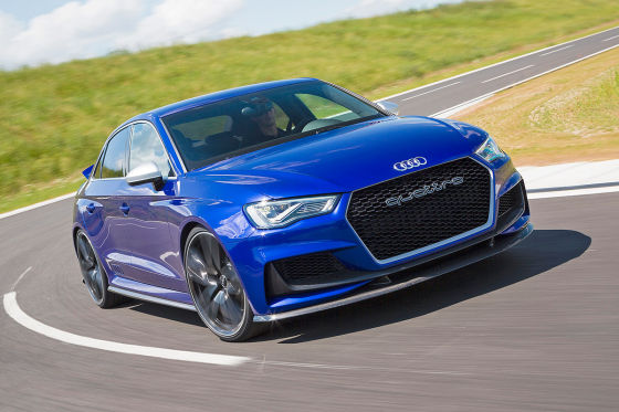 Audi A3 Clubsport quattro Concept blau Frontansicht